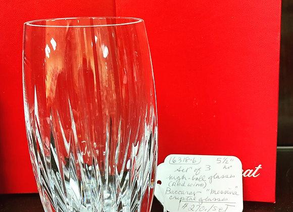 Baccarat highball glasses (3)