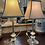 Thumbnail: Lamps, glass, pair.