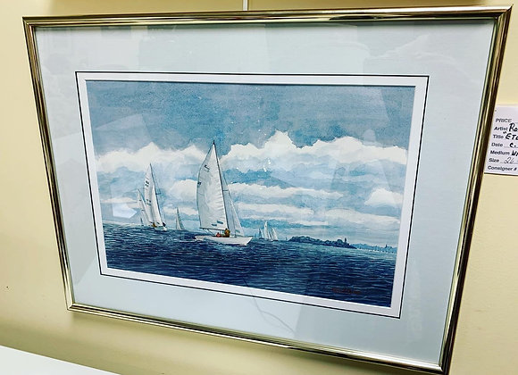 "by Robert Oliver. Watercolor. Signed. "" Etchells Class"""