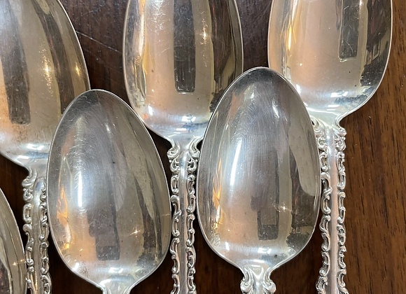 Sterling soup spoons (10)