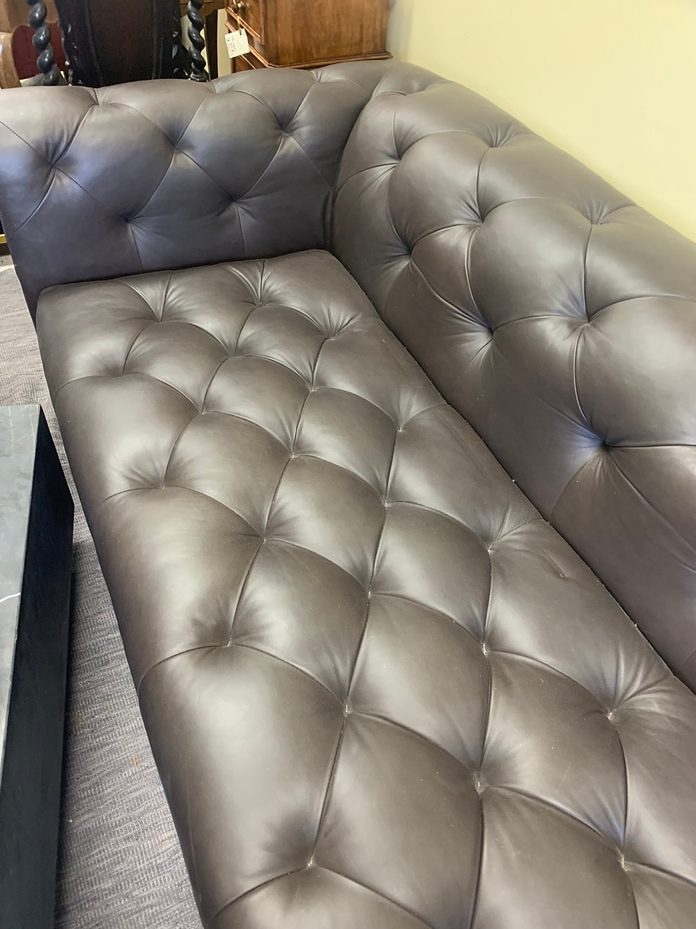 Awesome Espresso Restoration Hardware Leather Couch Spiritservingveterans Wood Chair Design Ideas Spiritservingveteransorg