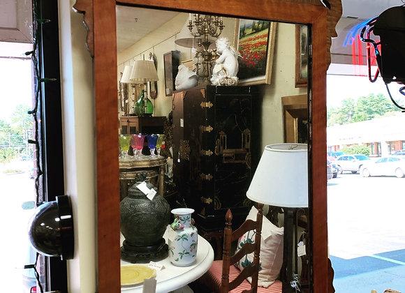 Antique tiger maple mirror