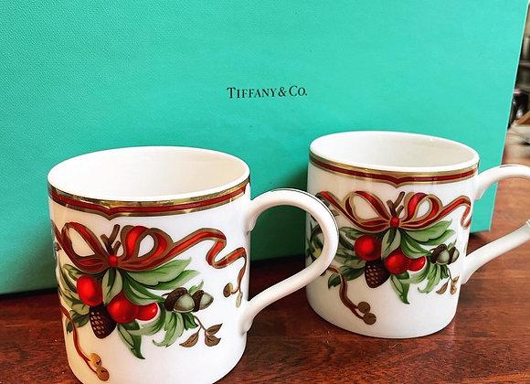 Tiffany & Company holiday mugs (4)