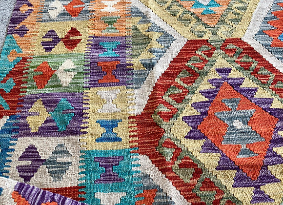 6' runner all wool kilim.
