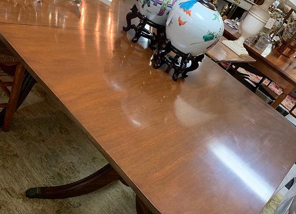 Mahogany classic dining table. 96' long.