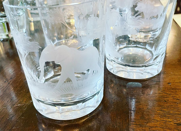 Low ball crystal glasses (4)