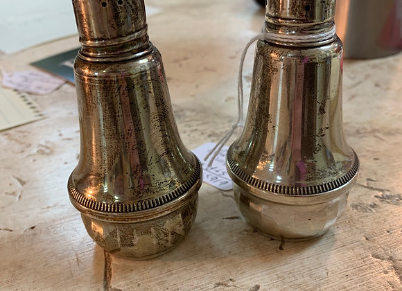 Salt & Pepper Shakers, sterling.