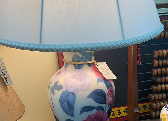 decoupage floral lamp