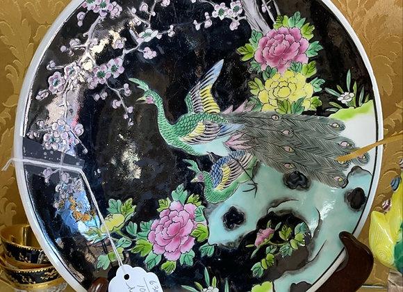 Peacock Asian plate