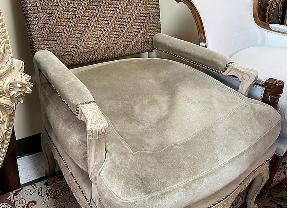 Bergere Suede Chair