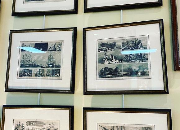 Nautical engravings.Series,6. Haley and Steel framed.