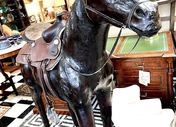 5 foot tall Vintage chestnut horse