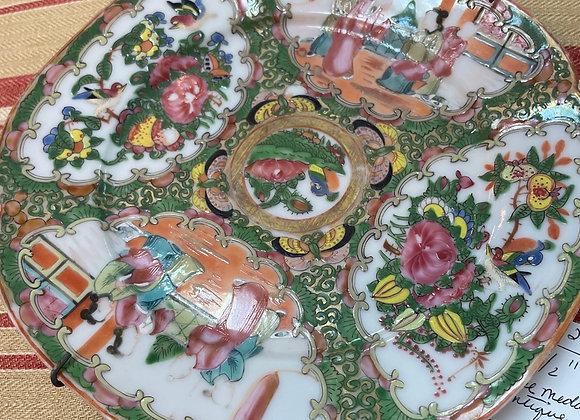 Antique Rose medallion plate
