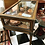 Thumbnail: Antique brass edged display cabinet. Glass top opens.