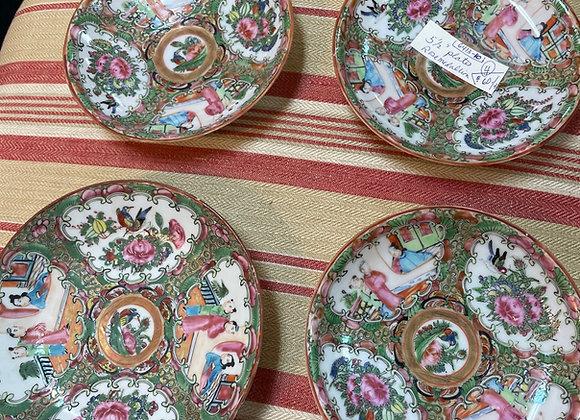 Rose medallion plates (4)
