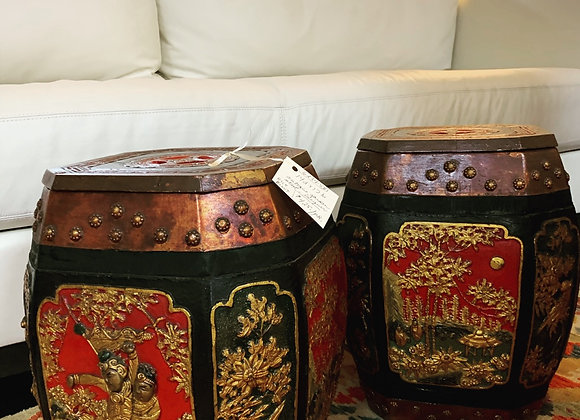 Antique garden stool / rice bucket (2)