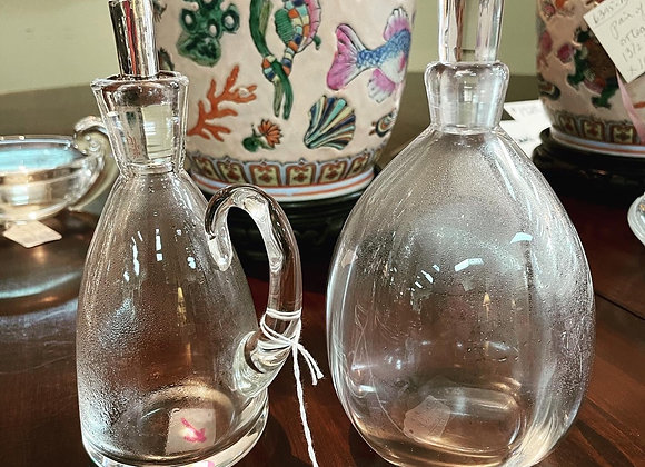 Steuben Oil & Vinegar Set