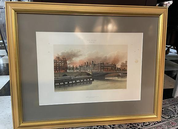 Lithograph 'Paris is burning'