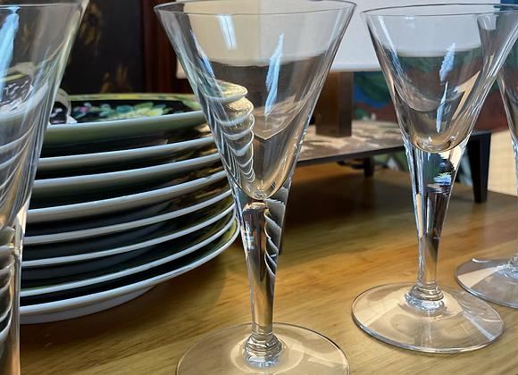 Seven petite glasses