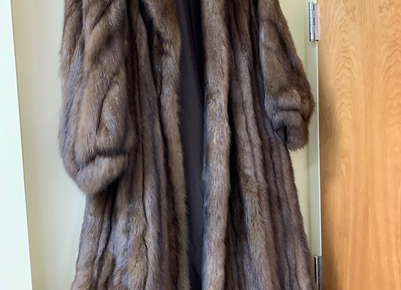 Sable Fur Coat (size 8-10)
