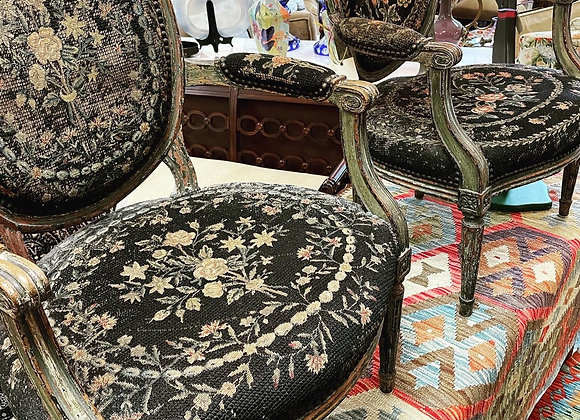 Antique Bergere chairs (2)