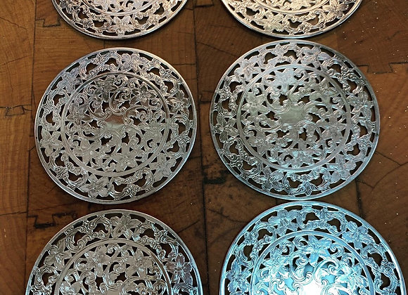 Sterling silver coasters