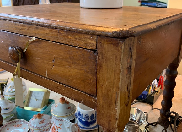 Antique small spool leg table
