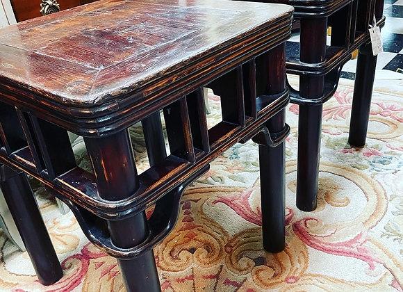 Chinese Elm Antique stools