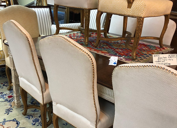 Dining chairs, 8 armless. Vintage. Brads, high back.