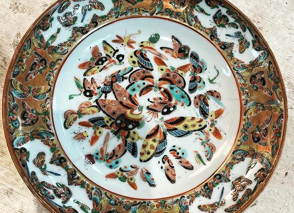 Antique butterflies plate