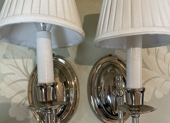Nickel sconces