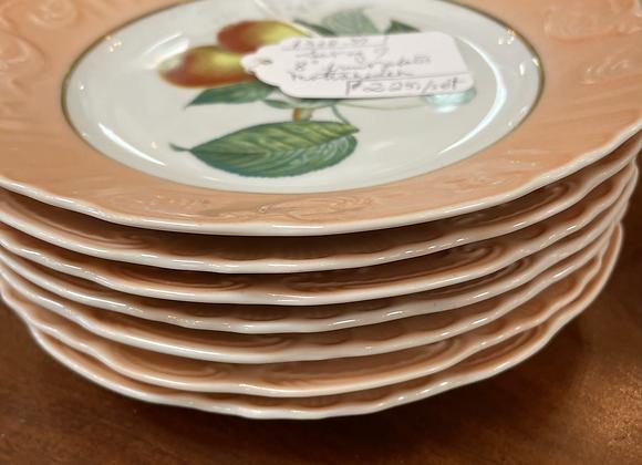 Set of fruit plates (7)