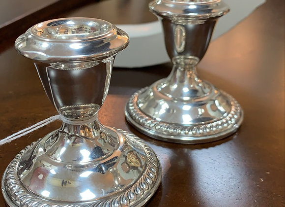 Sterling candlesticks