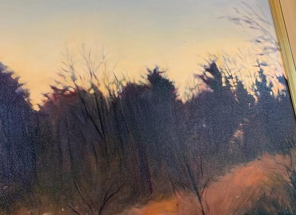 Marjorie Ball oil called Dark Pines