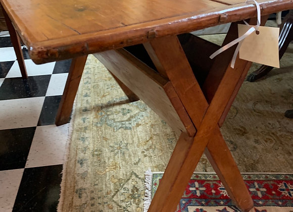 4' long. Small country table or desk.