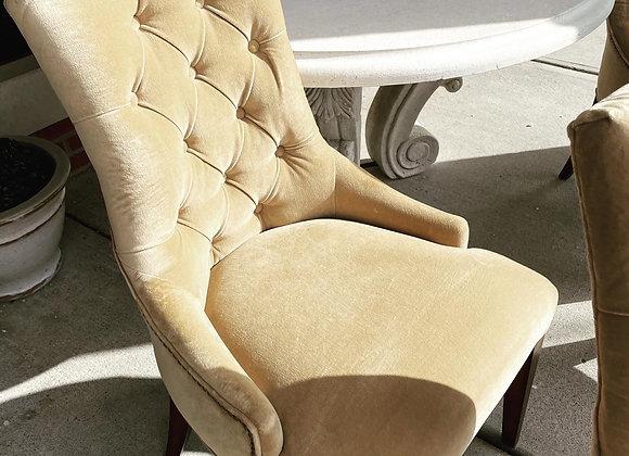 Restoration hardware dining chairs (8)