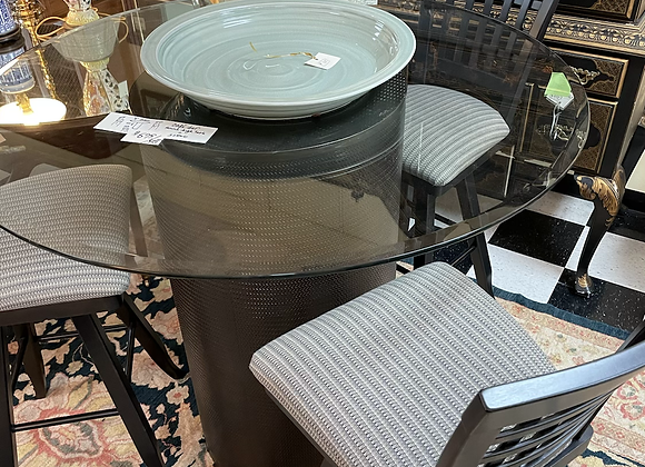 Cafe set, table / 3 chairs