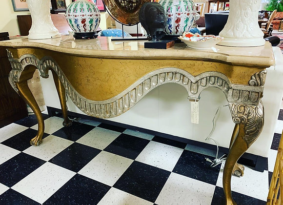 Hall table - marble top