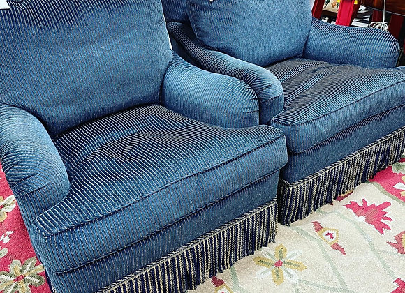 Edward Ferrell Navy & cream chairs