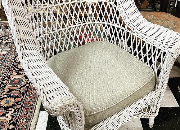 One wicker chair