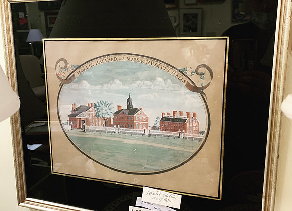Harvard College antique silk screens, price for the pair.