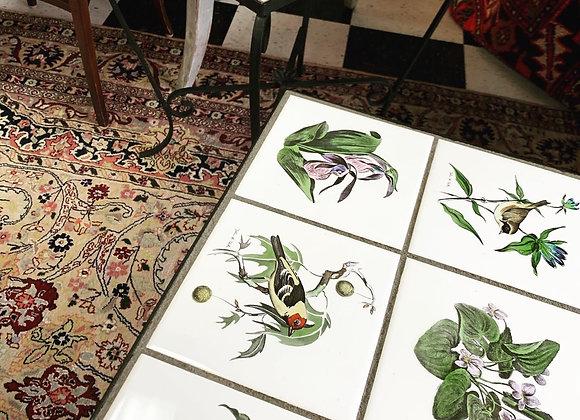 Pair of vintage tile top end tables