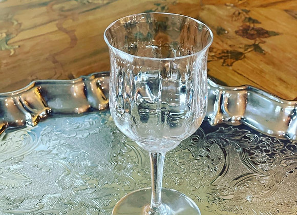 "Baccarat White wine glasses. 6"" hi."