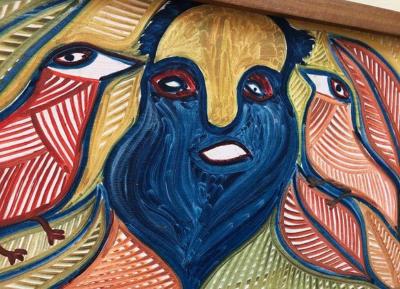 St. Pierre Toussant [ 1923-1985], Haiti artist. Acrylic on board.