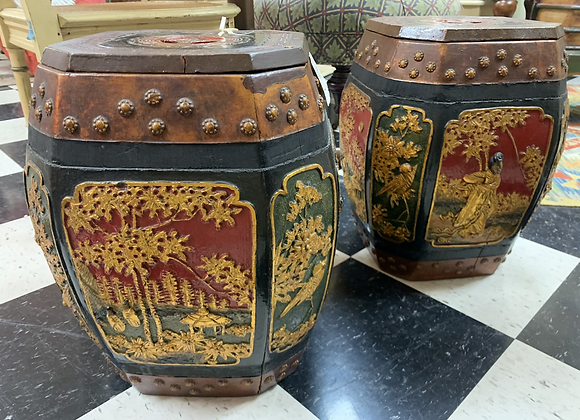 Garden stools / antique, Price for a pair.