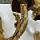 Thumbnail: Pair. 24 karat finish, bronze sconces. Greek Goddess.