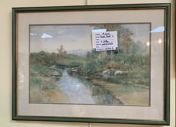 Original Burt Roy's watercolor