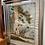 Thumbnail: Antique French silk framed art