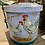 Thumbnail: Rooster tin can with lid and handle