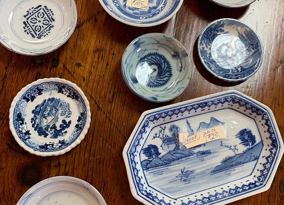 Blue White small dishes